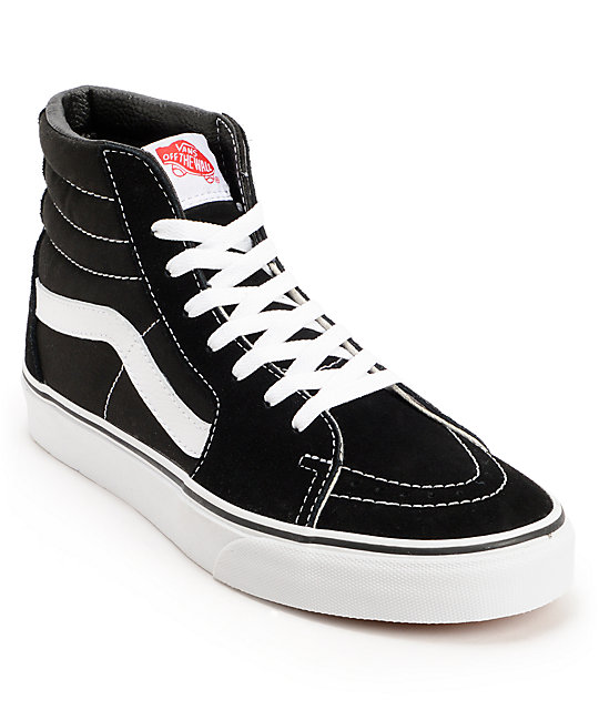 vans high tops vans sk8-hi black u0026 white skate shoes SJEKTOD