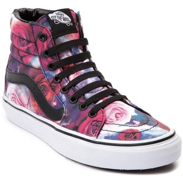 vans high tops vans sk8 hi galaxy rose skate shoe ($99) ❤ liked on polyvore featuring shoes CYUYUIX