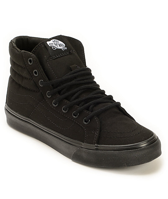 vans high tops vans sk8-hi slim black shoes SUMMEVO