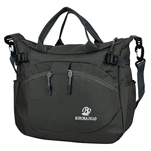 vbiger messenger bag handbags for women waterproof nylon fabric shoulder  bag (black) QMDKLZU