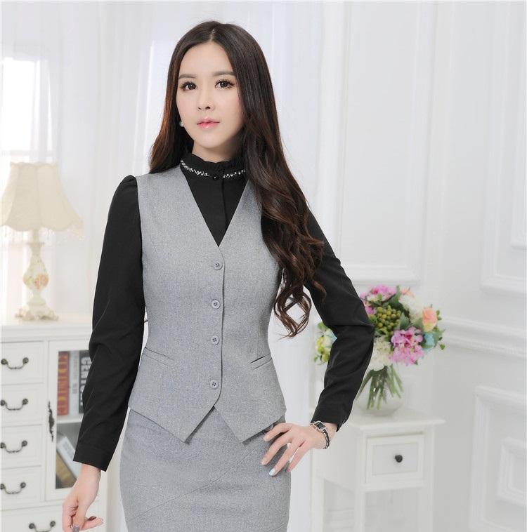 vest for women plus size 4xl formal uniform style professional business women vest coat  feminino slim fashion VVLURPM