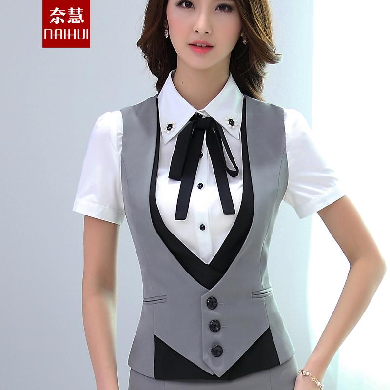 vest for women women work wear suit vest patchwork waistcoats spring autumn summer plus  size professional elegant WBTYEFE