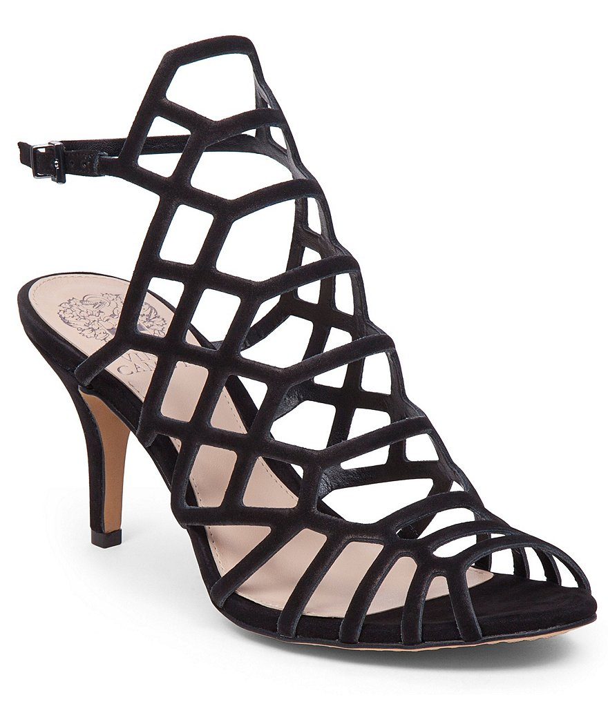 vince camuto shoes vince camuto paxton suede caged ankle strap dress sandals YUITVOK