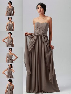 vintage bridesmaid dresses multi-wear chiffon dress RWGNYTJ