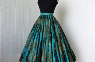 vintage dresses vintage 1950u0027s skirt ...fabulous maya de mexico original hand-painted  cotton pin-up full circle skirt MIWEVIL