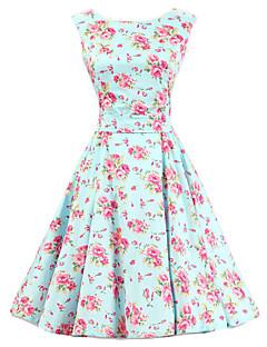 vintage dresses womenu0027s mint floral dress , vintage sleeveless 50s rockabilly swing short  cocktail dress SPBAKOM