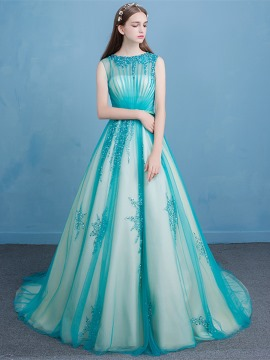 vintage prom dresses dramatic bateau neck beading sash prom dress XMRHSOS
