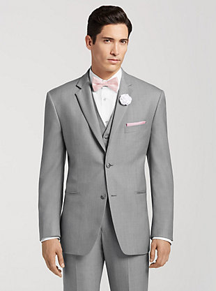 wedding suits menu0027s wedding attire - pronto uomo gray notch lapel suit tuxedo rental |  menu0027s CAJVKAT
