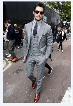 wedding suits mens light grey suits jacket pants formal dress men suit set men wedding  suits MVAHHMS