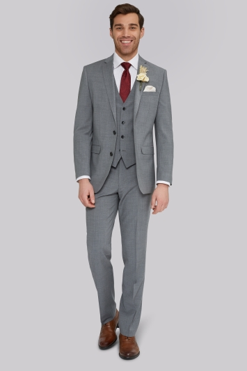 wedding suits performance tailored fit light grey suit EXYTBQG
