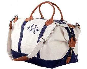 weekender bag, monogram weekender, monogrammed weekender, navy weekender,  gray weekender, pink FIAKNNV
