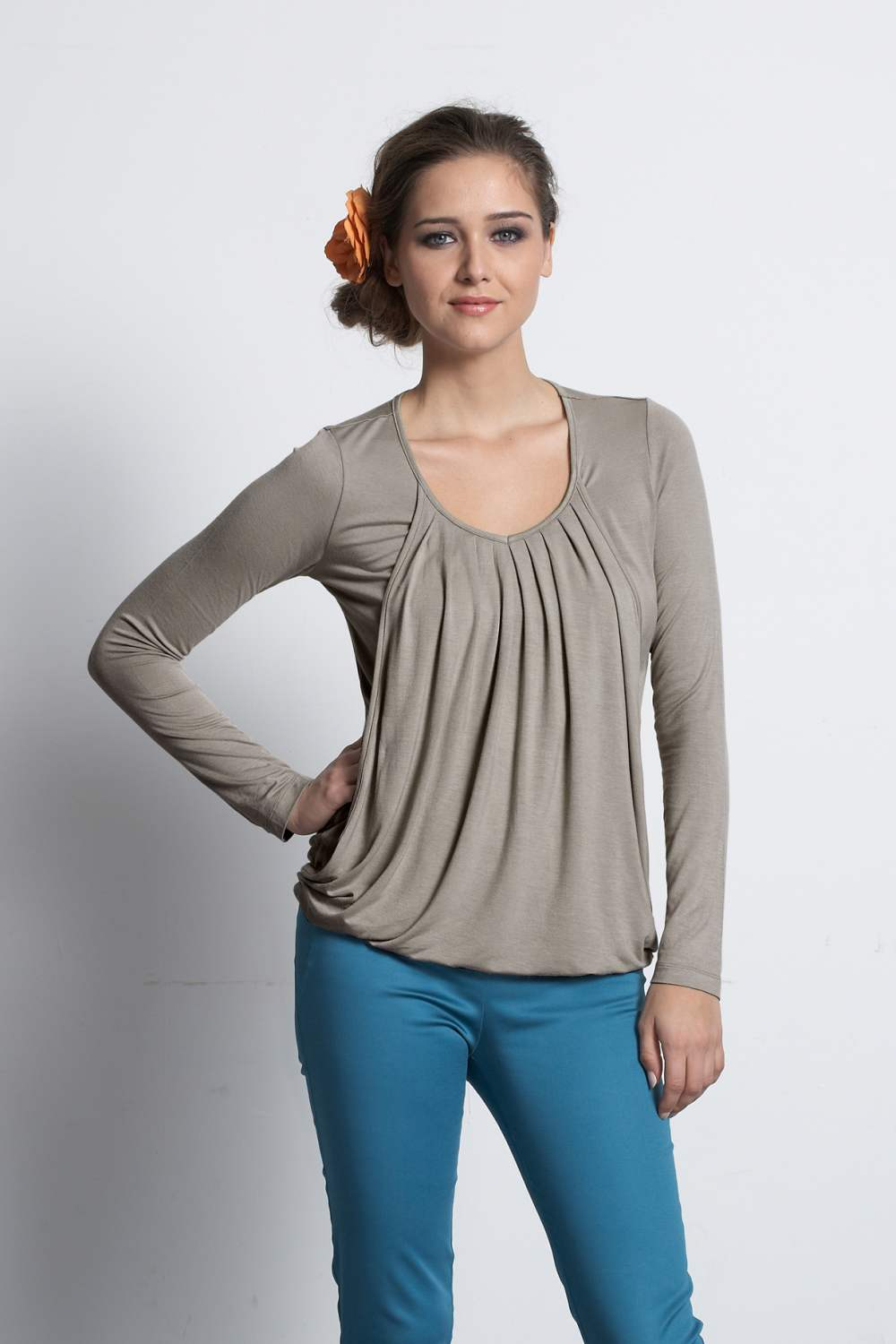 Chic and comfortable nursing tops