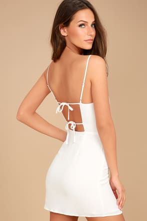 white dresses for women lulus. sweetest day white mini dress XDAZNLY