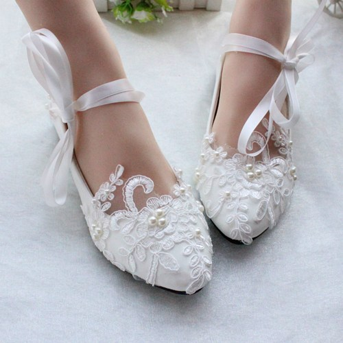 white/ivory wedding shoes,lace dance shoes,bridal flats,wedding flats CYGGWMA