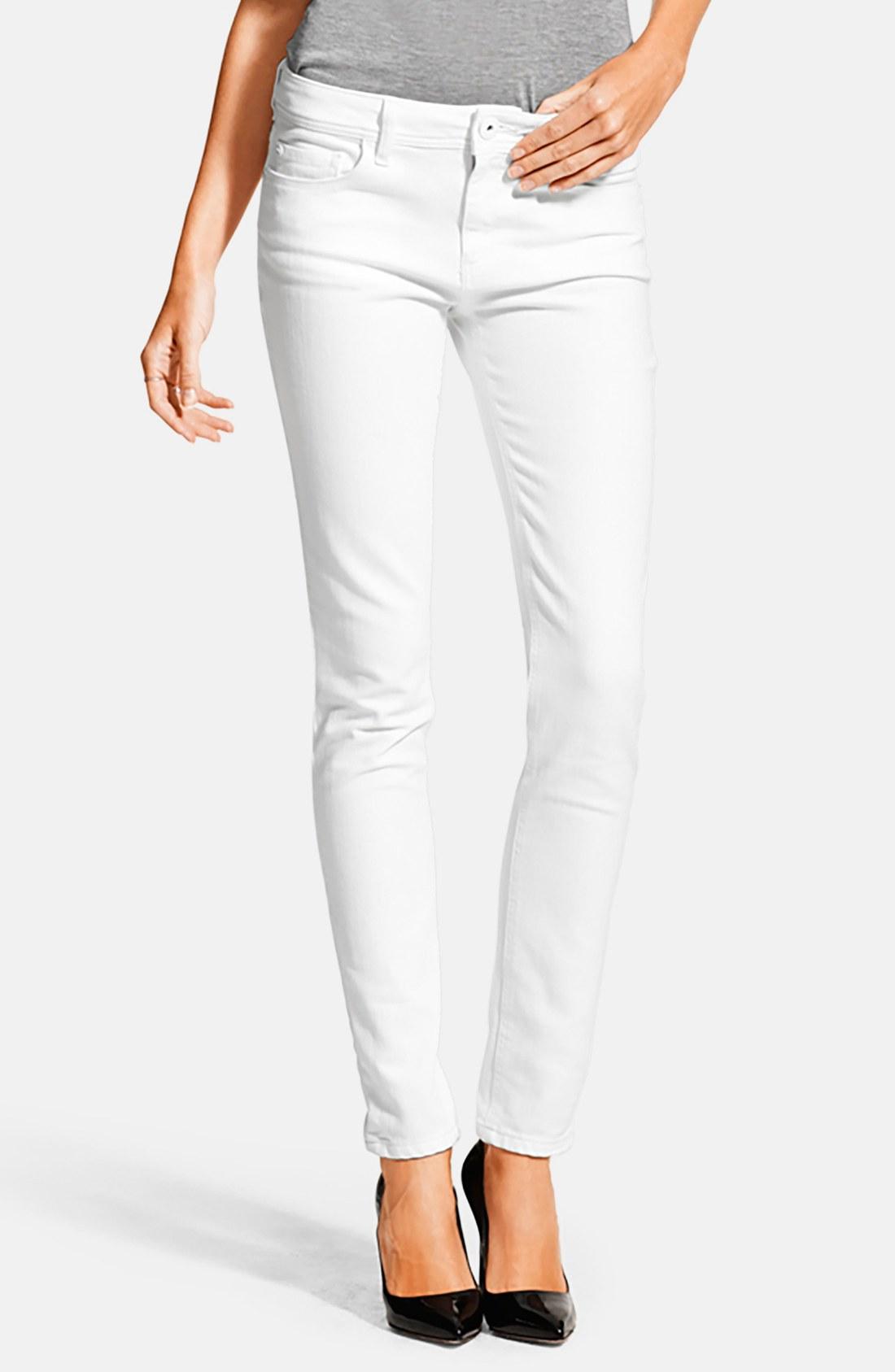 White jeans for females