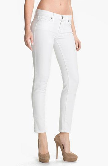 white jeans paige u0027skylineu0027 ankle peg skinny jeans (optic white) | nordstrom DXLQREA