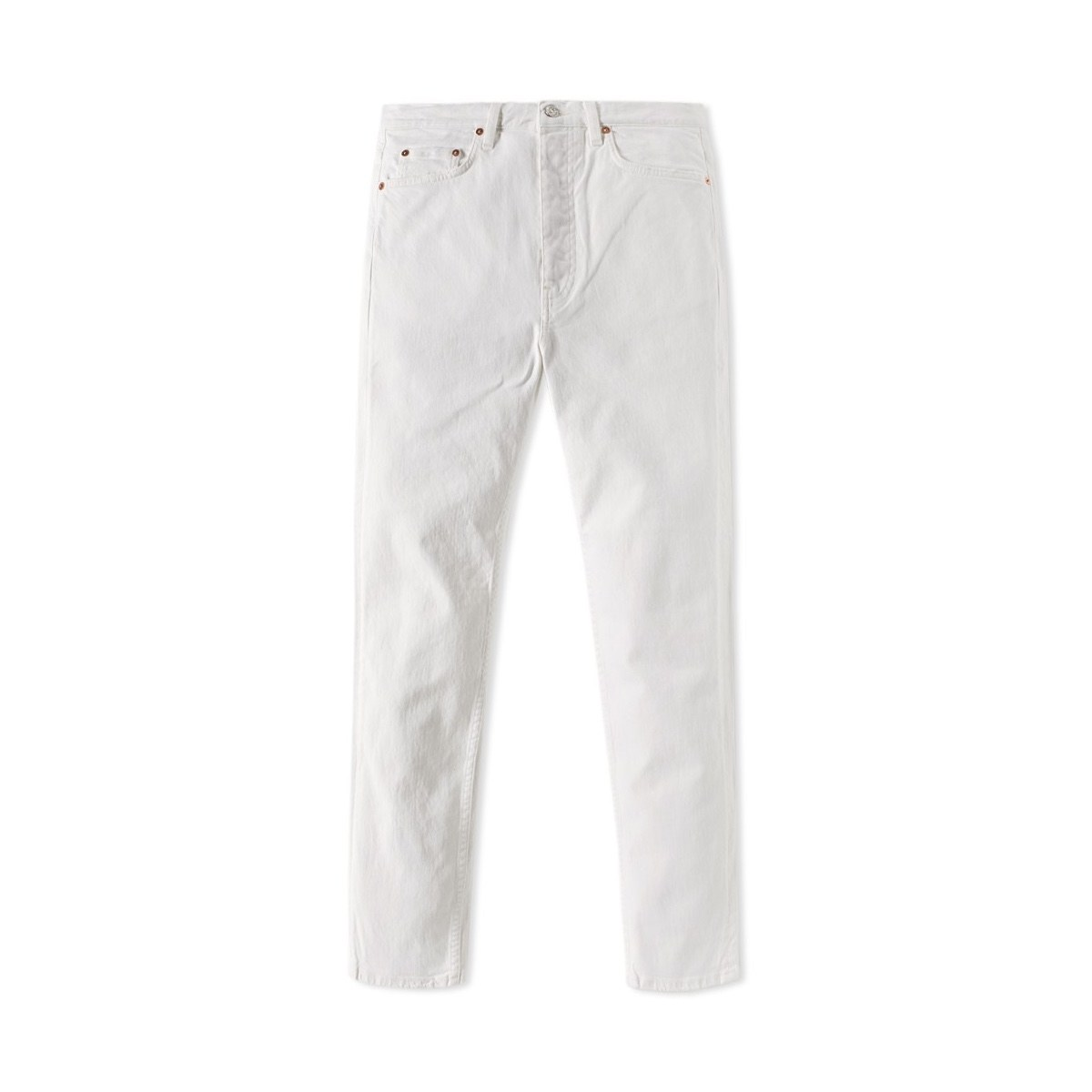 white jeans slouchy and tapered ANAZVIN