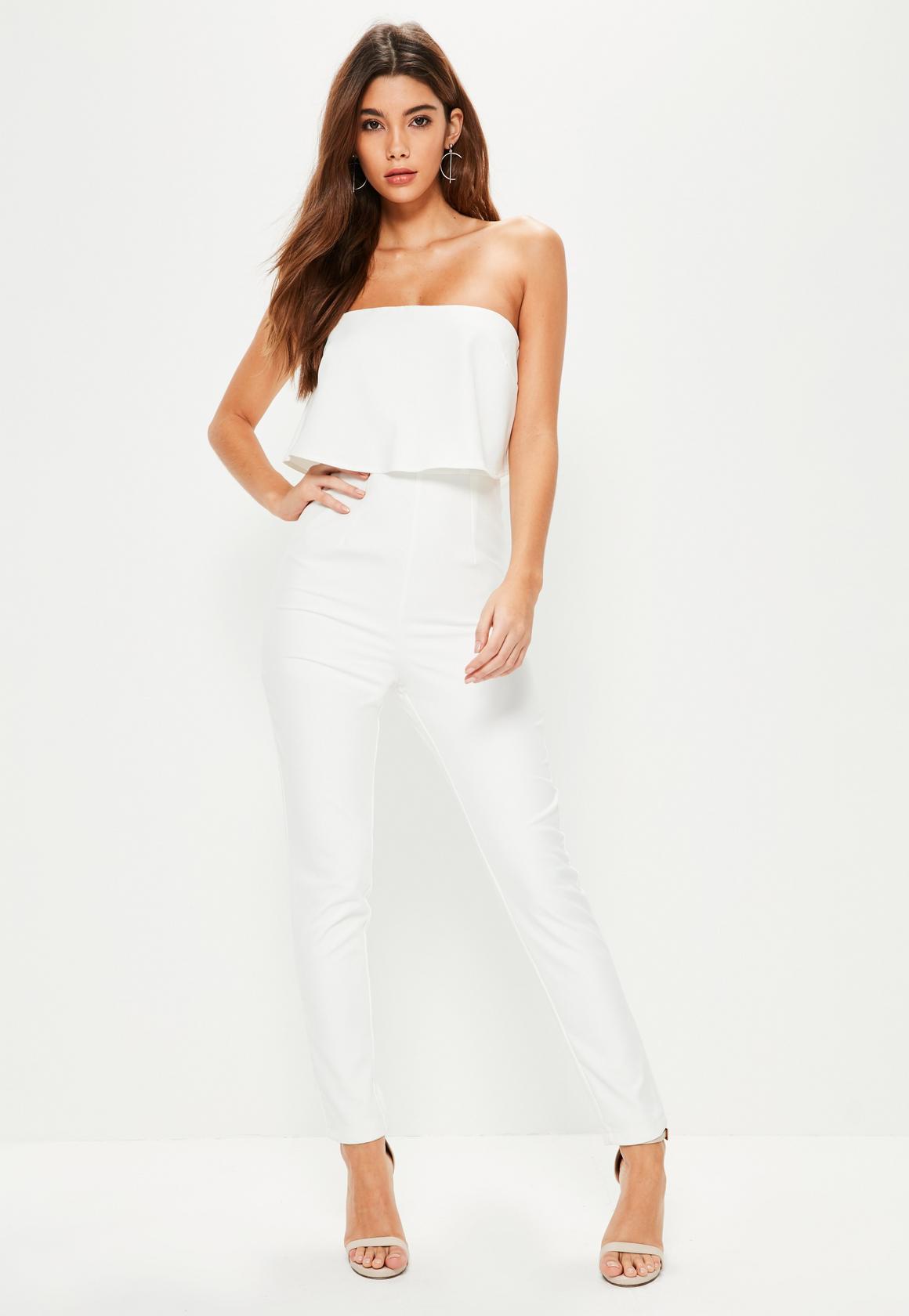 white jumpsuit bandeau double layer jumpsuit white. previous next NIYBYFQ