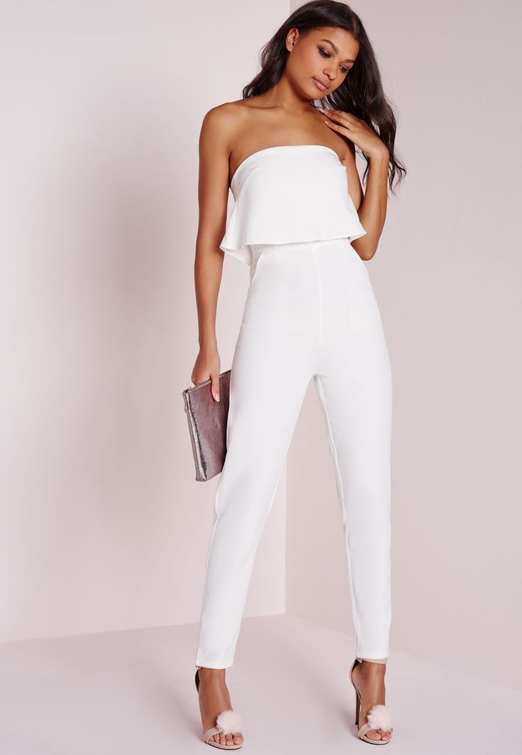 white jumpsuit in crisp white, this chic and elegant jumpsuit is the perfect piece for  effortless ZNCARIG