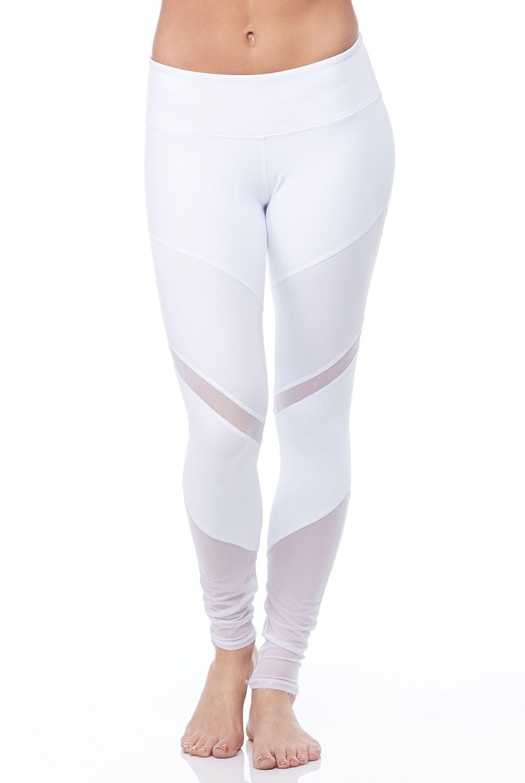 white leggings alo yoga sheila legging in white and white glossy DQPGSWW