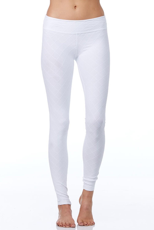white leggings beyond yoga quilted long yoga legging in white TPWSMPF