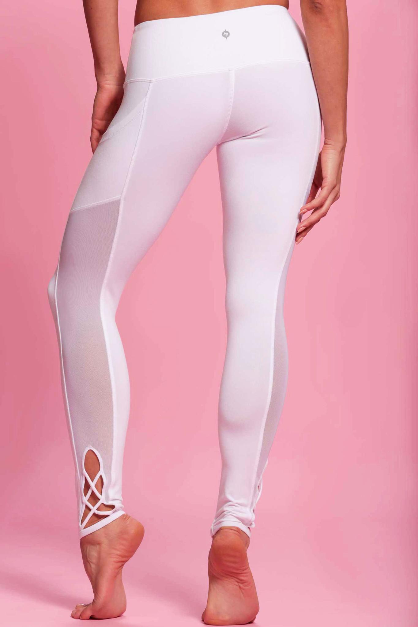 white leggings ... pointe legging - snow white ... QTETCQI