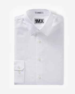 white shirt fitted 1mx shirt | express ICRMQFW