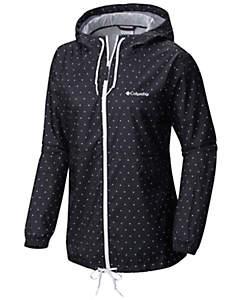 windbreaker jacket womenu0027s flash forward™ printed windbreaker - plus size ASHJKGD