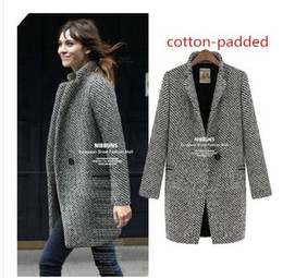 winter coats for women s-4xl 2016 women long wool coat winter jackets coats for women thick wool winter TOLAVAA