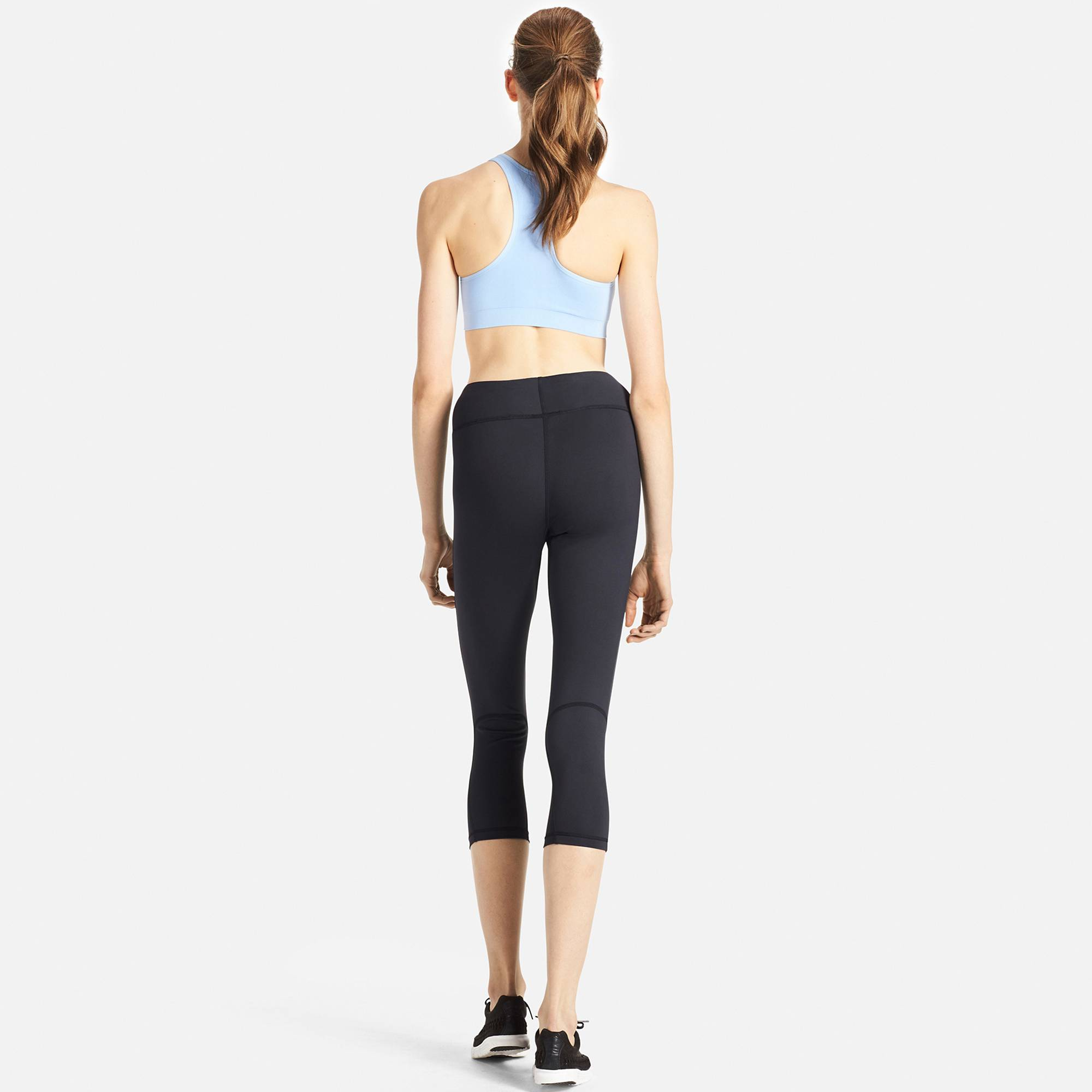 women airism cropped leggings, gray, small RLERCGG