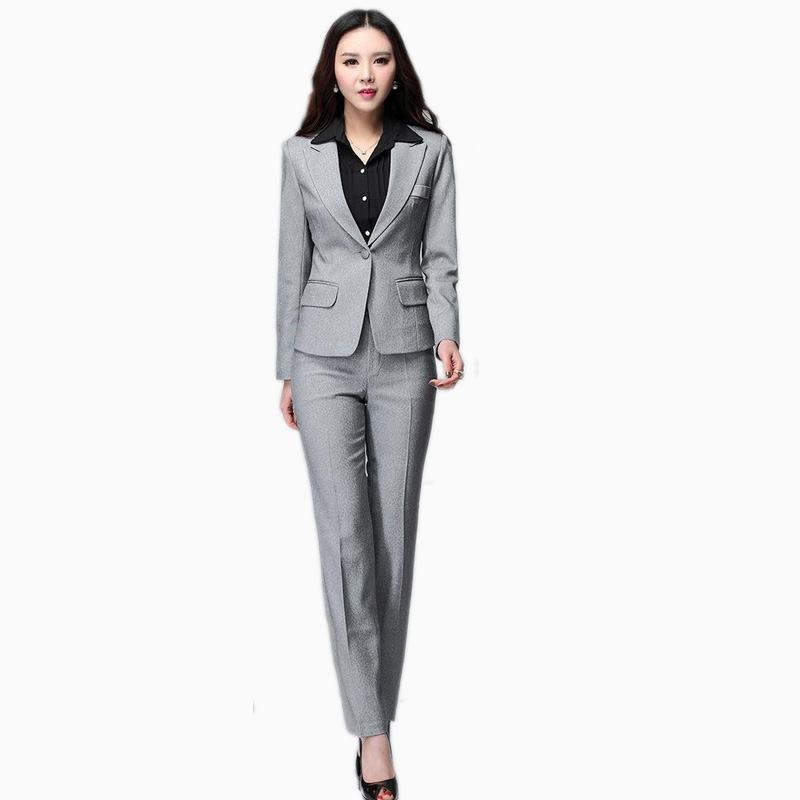 women suits women business suits blazer with pants new 2017 formal office uniform  designs pant suit QOMMUHC
