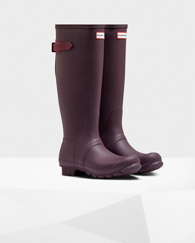womenu0027s original tall back adjustable wellington boots OMREBUS