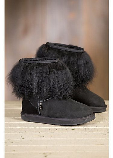 womenu0027s overland roxanne sheepskin boots with tibetan wool trim RVALHKK