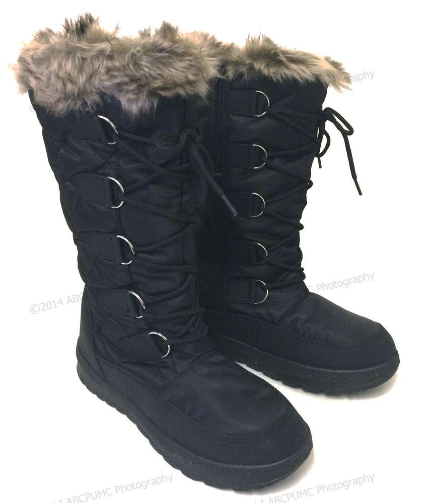 womenu0027s winter boots snow fur warm insulated waterproof zipper ski shoes,  sizes EOMJRQL