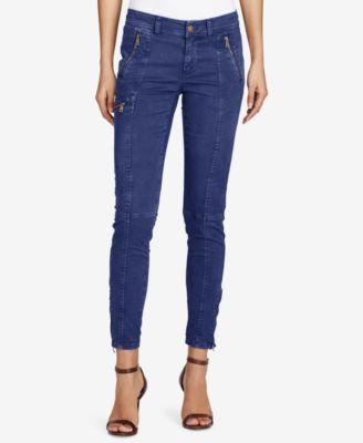 womens cargo pants lauren ralph lauren skinny twill cargo pants UJSSJRK