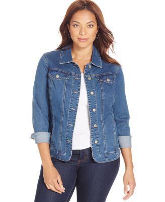 womens denim jacket charter club plus size denim jacket, only at macyu0027s APQVPAL