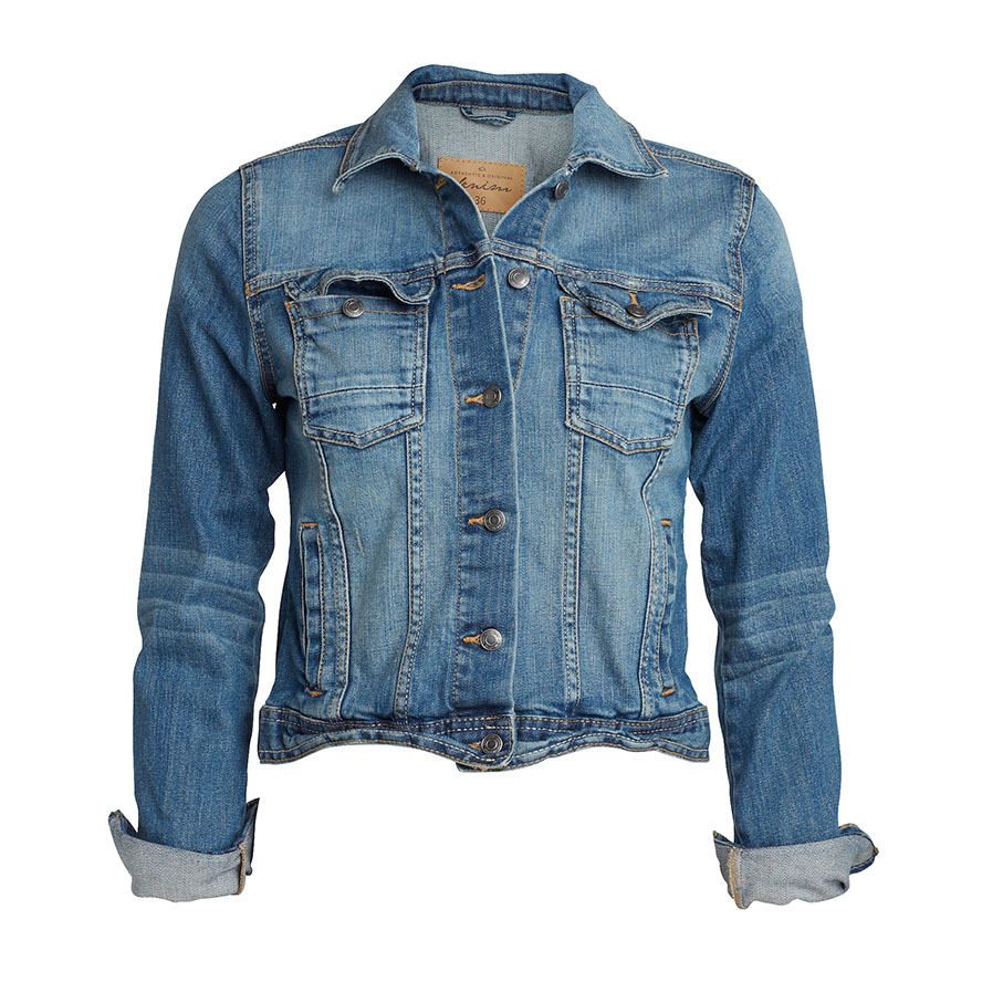 womens denim jacket EAFJABU