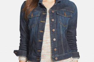 womens denim jacket kut from the kloth u0027helenau0027 denim jacket (regular u0026 petite) | nordstrom EYKTHWH