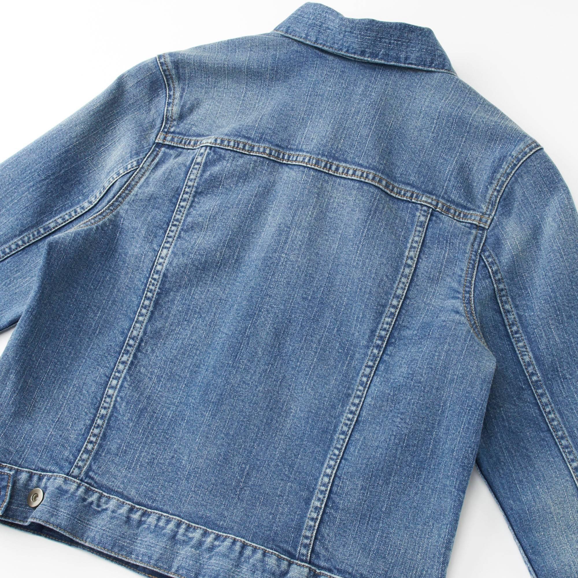 womens denim jacket women denim jacket, blue, small BFLLIHZ