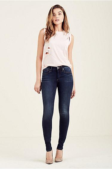 womens jeans jennie curvy mid rise super skinny womens jean JAORGDG