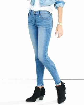 womens jeans ... mid rise faded stretch jean legging TVSPNQC