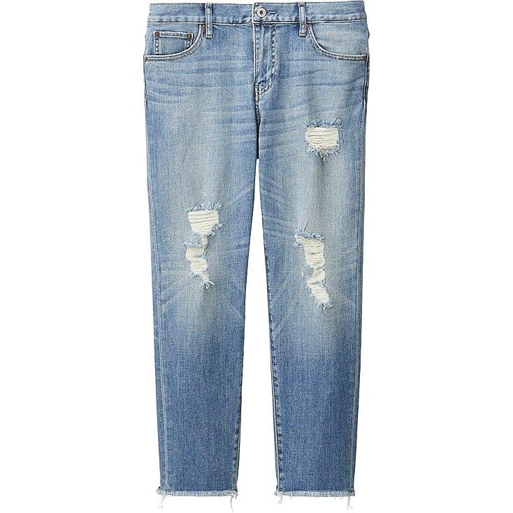 womens jeans women slim boyfriend fit ankle jeans, blue, medium RKNYAKO