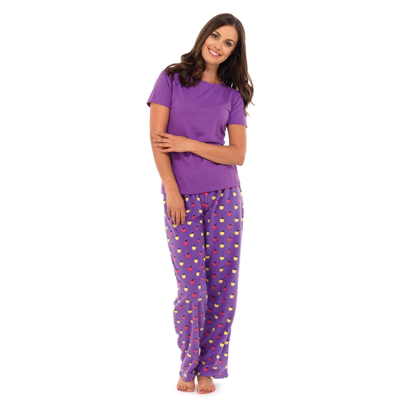 womens pyjamas ladies-womens-pyjamas-pajamas-sleepwear-fleece-bottoms-amp- QDPMEJP