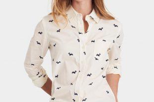 womens shirts lucie classic fit printed shirt TWSBIGO
