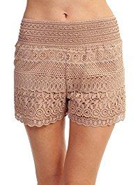 womens shorts tobeinstyle womenu0027s lace shorts IQLLFTZ