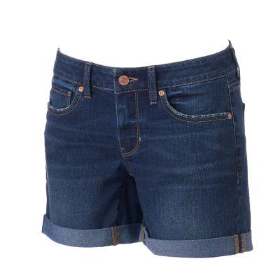 womens shorts womenu0027s sonoma goods for life™ jean boyfriend shorts UVLFIUM