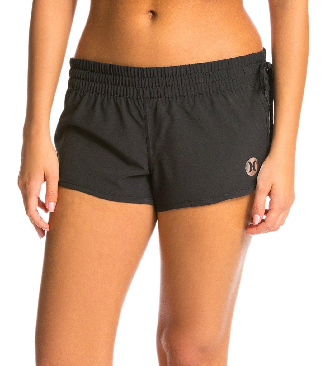 womens swim shorts hurley womenu0027s phantom solid 2.5 JMUWIKK