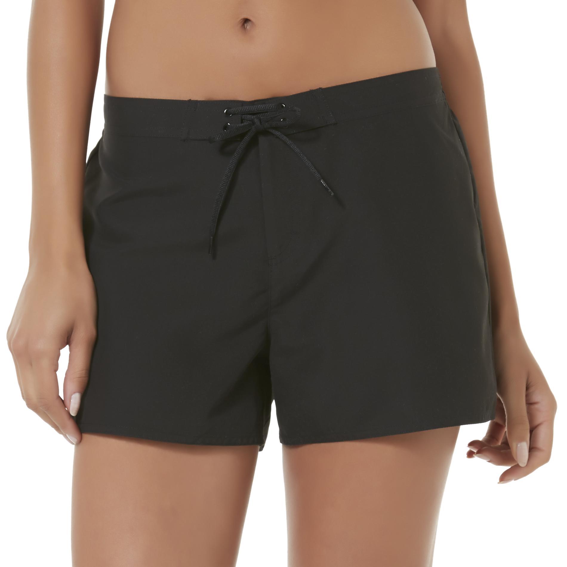 womens swim shorts tropical escape womenu0027s woven swim shorts - clothing - womenu0027s clothing -  womenu0027s swimwear AYBUTYJ