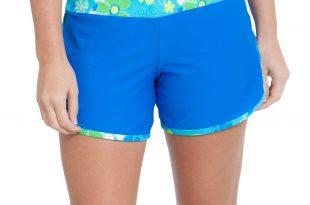 womens swim shorts womenu0027s swim shorts - daisy blue HBSIPPG