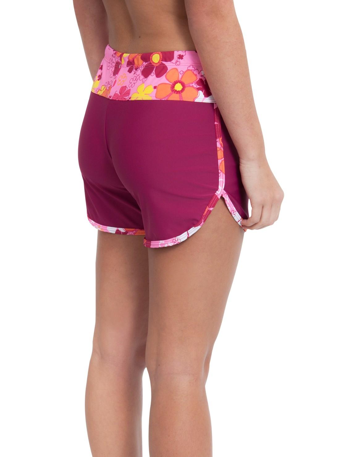 womens swim shorts womenu0027s swim shorts - daisy pink BSWZLVC